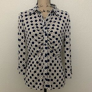 Laundry by Shelli Segal Geometric Print Blouse S